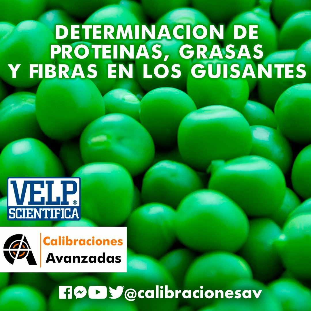 DETERMINACIÓN DE PROTEÍNAS, GRASAS Y FIBRAS EN LOS GUISANTES